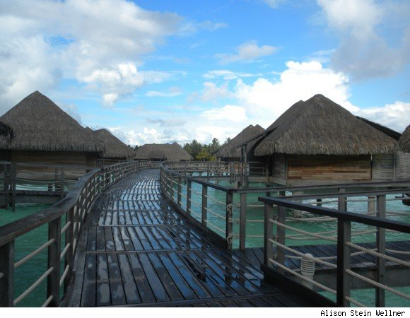 Boardwalk Leading to Bungalows