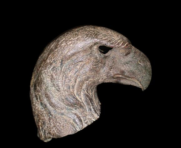 Head of an eagle from a Roman military standard