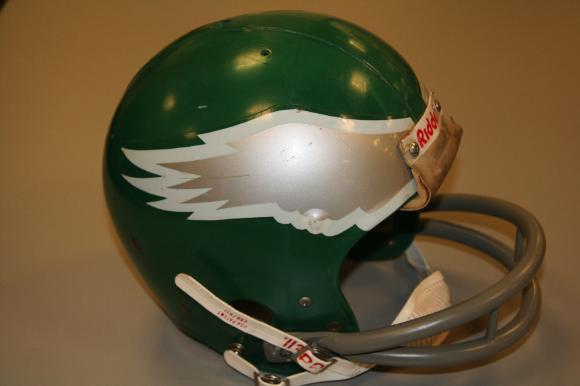 Football helmet worn by Harold Carmichael