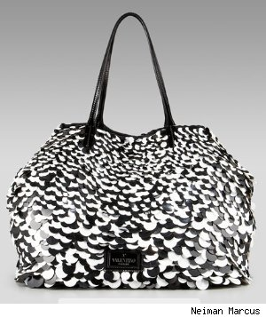 Valentino Ricamo Macro Paillettes Tote