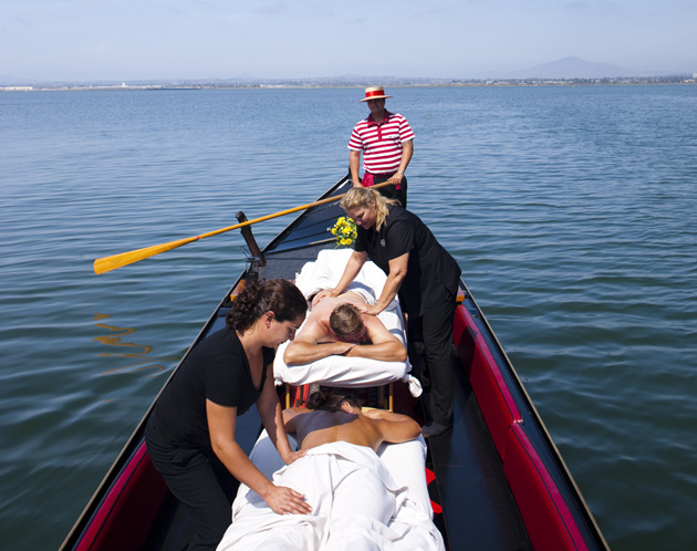 Get A Massage On A Gondola At Loews Coronado Bay Resort