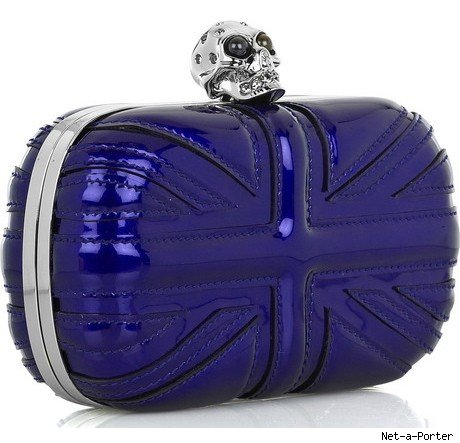 Leathe Union Jack Clutch Alexander McQueen