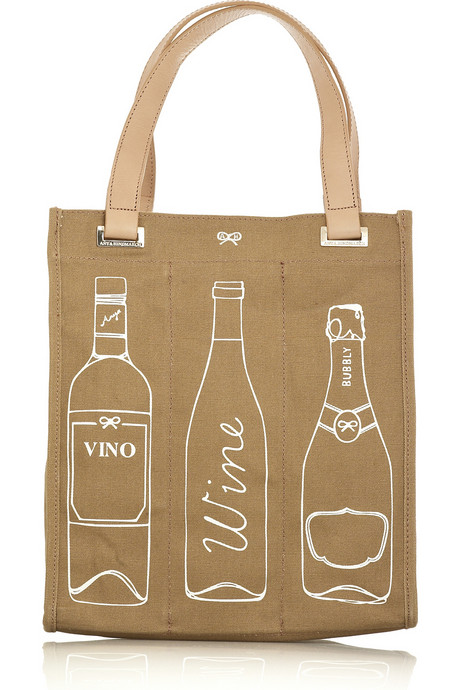 Wine Tote by Anya Hindmarch