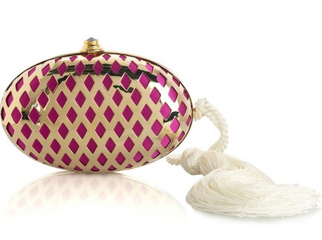 Temperley London Faberge Lattice Clutch Handbag