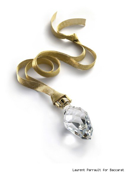 Baccarat's Crystal and Yellow Gold Pendant