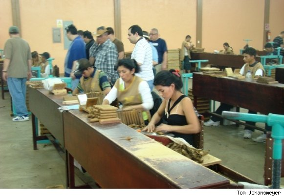 The Cigar Rolling Room at My Father Cigars Factory in Nicaragua