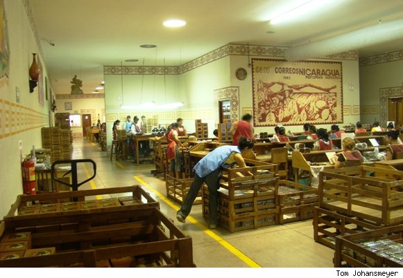 Cigar packing at the Drew Estate cigar factory