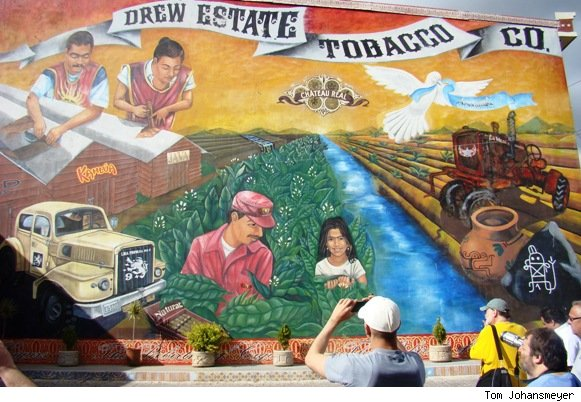Mural at Cigar Safari, Drew Estate