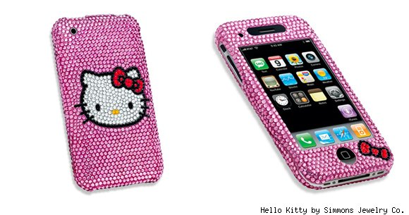Hello Kitty by Simmons Jewelry Co. Crystal iPhone Case (3G/3GS)
