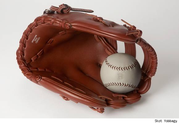 Hermes hand-stitched baseball mitt