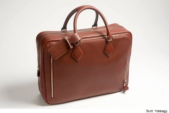 Hermes brown suitcase