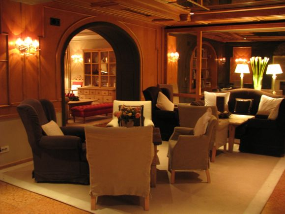 Lobby Lounge at Rosa Alpina