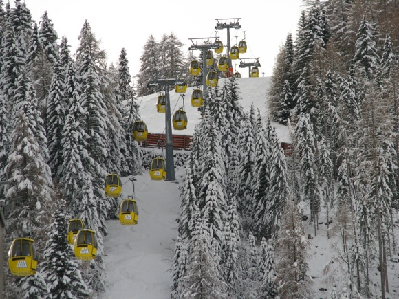 Ski Lift at San Cassiano