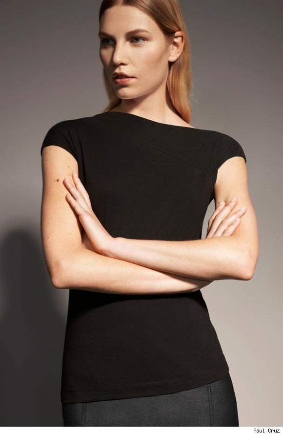 Jersey Top with asymmetrical seam detail