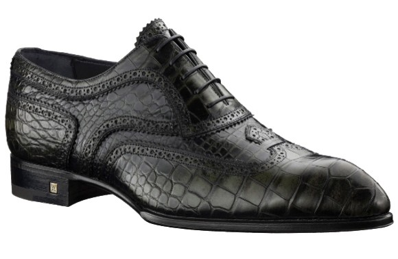 louis vuitton alligator wingtips
