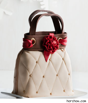 Quilted Chocolate Handbag Cake