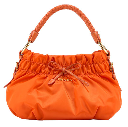 Prada Tessuto Bow Hobo Handbag