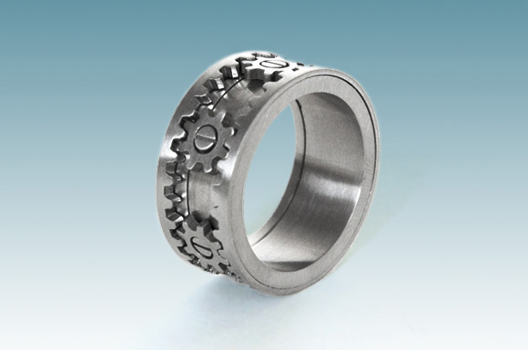 Permalink to gear wedding ring