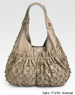 Lockheart Floral Leather Hobo