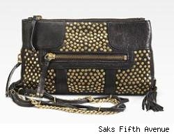 Olivia Harris Studded Chain Clutch