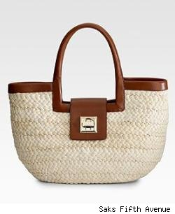 Kate Spade Folly Beach Benedicta Straw Satchel