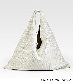 MM6 Maison Martin Margiela Perforated Leather Hobo