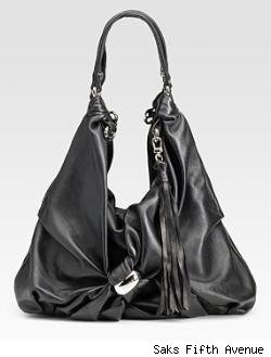 MCM North/South Leather Hobo