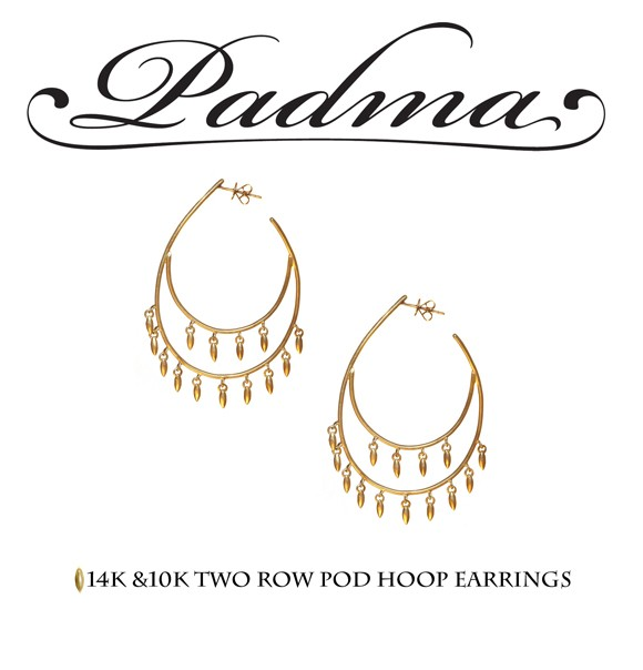 Two Row Pod Hoop Earrings