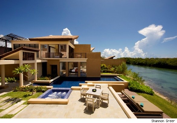 A two-bedroom pool villa at the Banyan Tree Mayakoba.