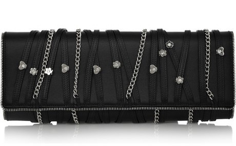 Balmain Night Pearl Leather Clutch