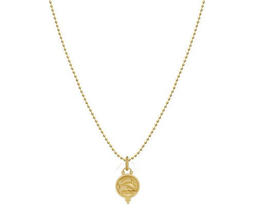 18K Small Dolphin Necklace