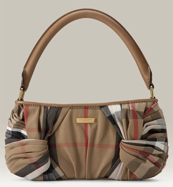 Burberry Check Print Knotted Shoulder Bag