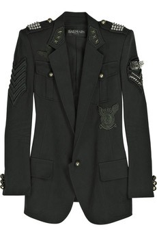 balmain military jacket