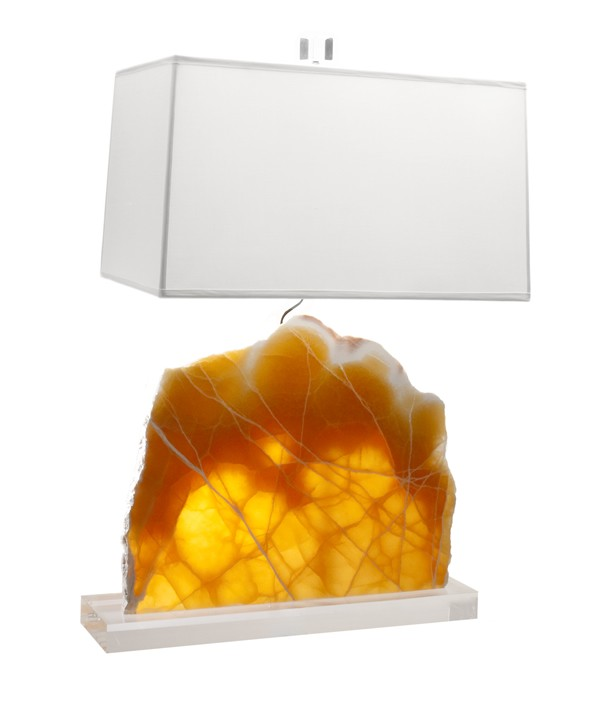 Honeycomb Calcite Lamp