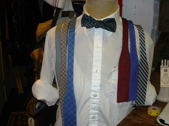 A selection of his bow ties.