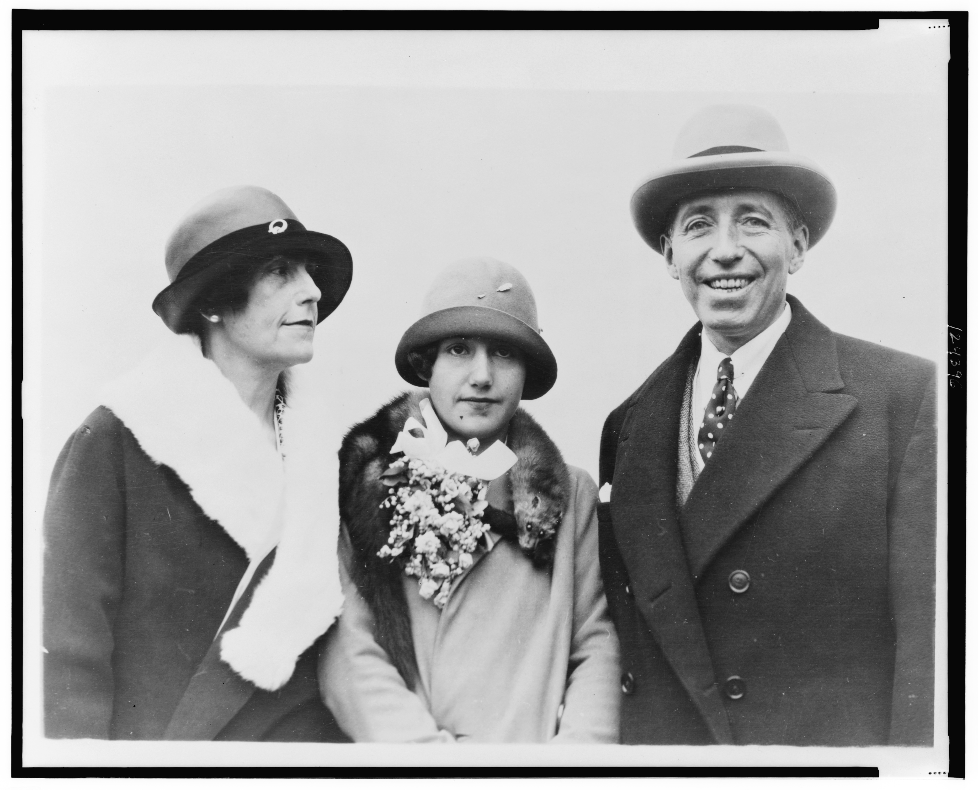 Pierre Cartier, wife and daughter, 1926, Library of Congress.