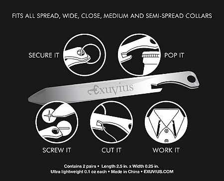 exuvius collar stays