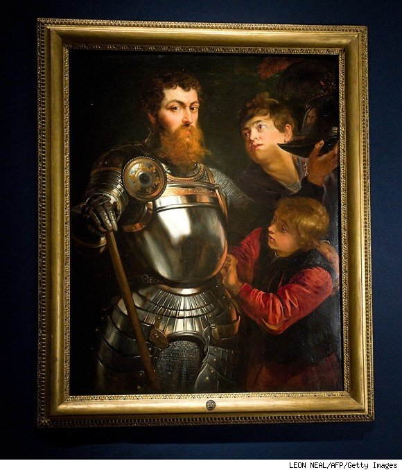 rubens, a commander being armed for battle