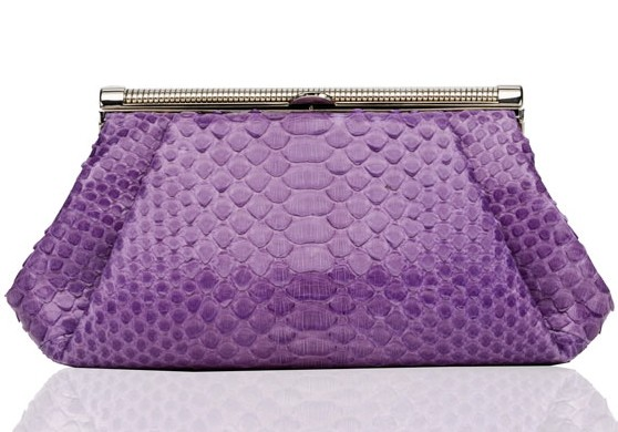 Judith Leiber Python Sevilla Clutch Handbag