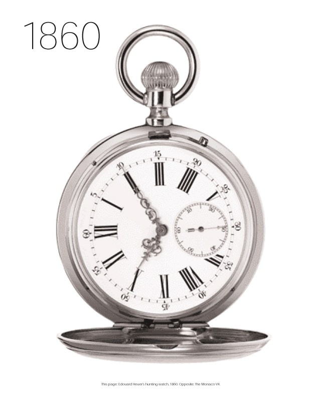 Heuer pocket watch, 1860