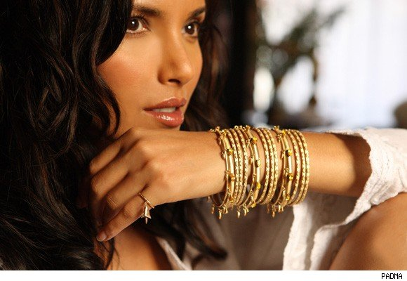 Padma Lakshmi models her own jewelry designs