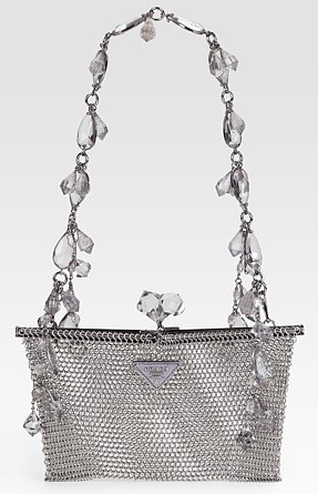 Prada Rete Metal Evening Handbag