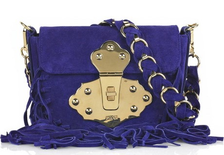 Emilio Pucci Fringed Suede Handbag