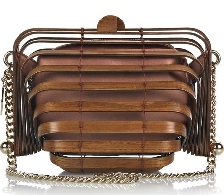 Stella McCartney Wooden Accordion Clutch