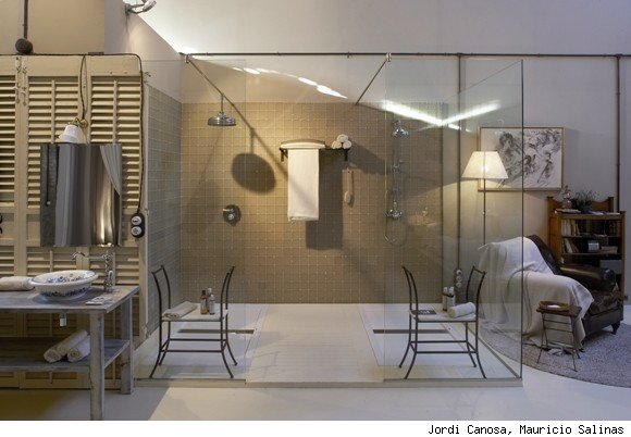 Barcelona, Spain Bathroom Designed by Carmen Barasona
