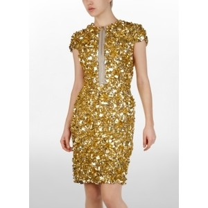 Gold Sequin Dress on Ugly Sequin Dress