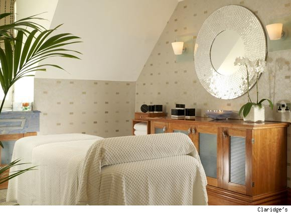 A view of a treatment room at the Spa at Claridge's in London