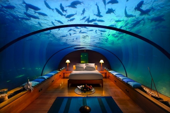 Sleep underwater Maldives