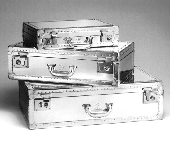 dunhill aluminium luggage