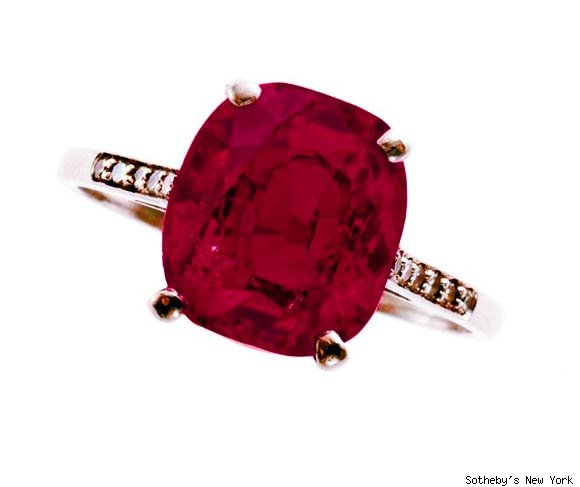 Isabella Stewart Gardner's ruby ring was sold for just under $2.1 million (including buyer's premium) by Sotheby's in New York.